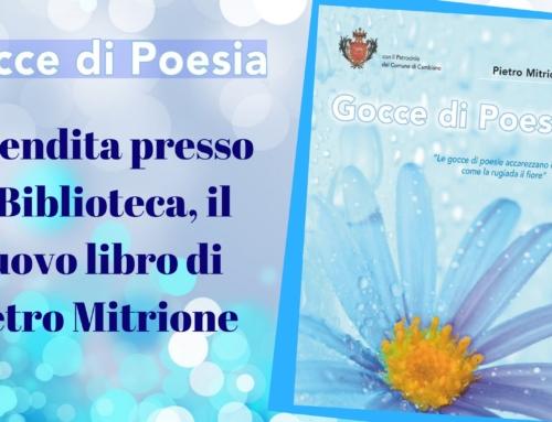 """""""Gocce di Poesia"""": in Biblioteca si può acquistare il libro che aiuta la Caritas"""