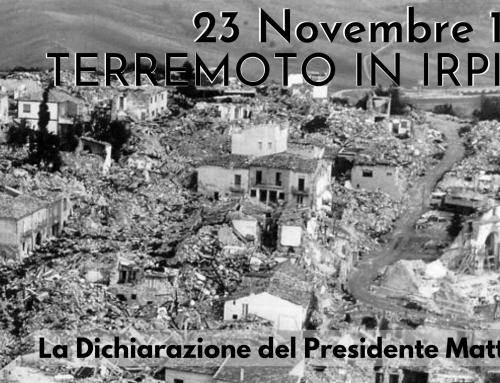 Dichiarazione del Presidente Mattarella nel 40° anniversario del terremoto in Irpinia